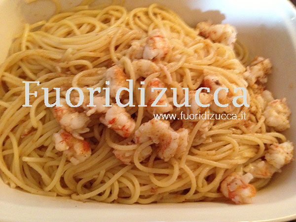 spaghetti ai gamberi sabbiati