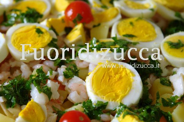 tartare di trota salmonata con uova